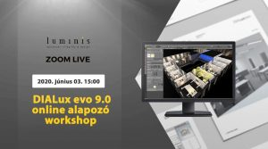 DIALux evo 9.0 alapozó világítástervező workshop